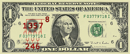 Dollar Bill Serial Number Example