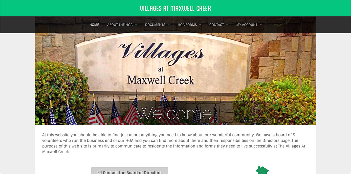 Maxwell Creek Home Owners Association
